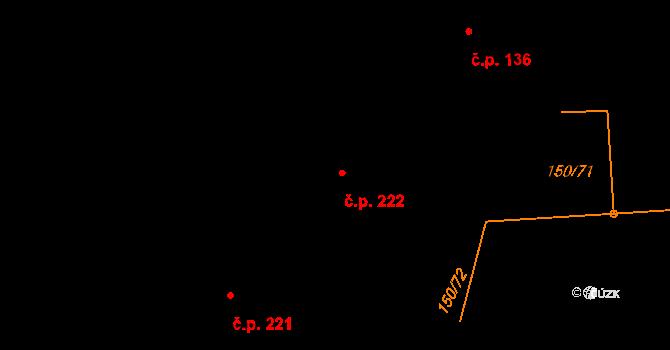 Studánka 222 na parcele st. 336 v KÚ Studánka u Tachova, Katastrální mapa