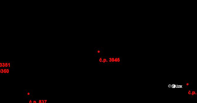 Zlín 3946 na parcele st. 4836 v KÚ Zlín, Katastrální mapa