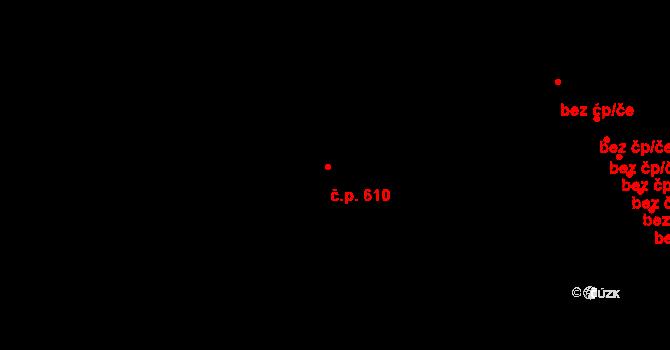 Hrotovice 610 na parcele st. 519 v KÚ Hrotovice, Katastrální mapa