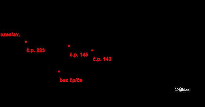 Horní Bojanovice 143 na parcele st. 264/3 v KÚ Horní Bojanovice, Katastrální mapa