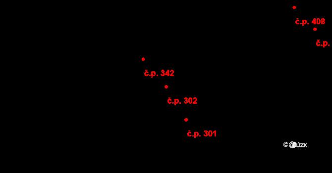 Lazce 302, Olomouc na parcele st. 334 v KÚ Lazce, Katastrální mapa