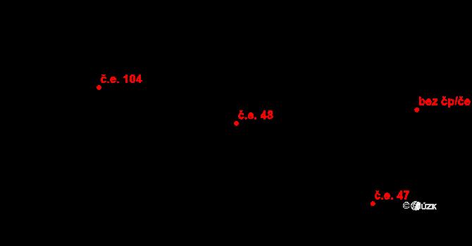 Úpice 48 na parcele st. 1182 v KÚ Úpice, Katastrální mapa