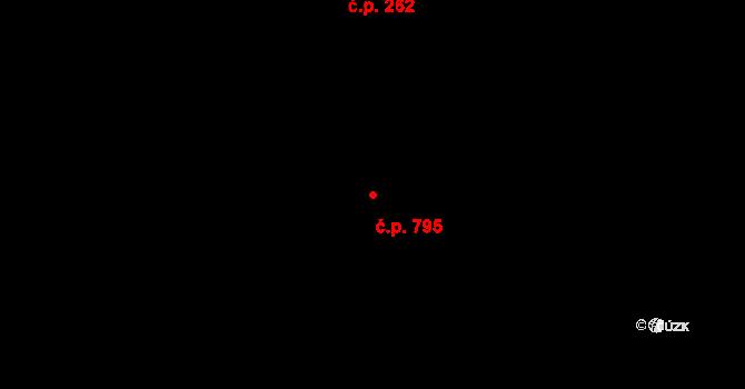 Zábrdovice 795, Brno na parcele st. 510 v KÚ Zábrdovice, Katastrální mapa