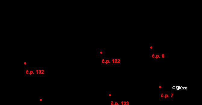 Josefov 122, Praha na parcele st. 88 v KÚ Josefov, Katastrální mapa