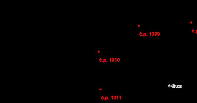 České Budějovice 2 1310, České Budějovice na parcele st. 2061/800 v KÚ České Budějovice 2, Katastrální mapa