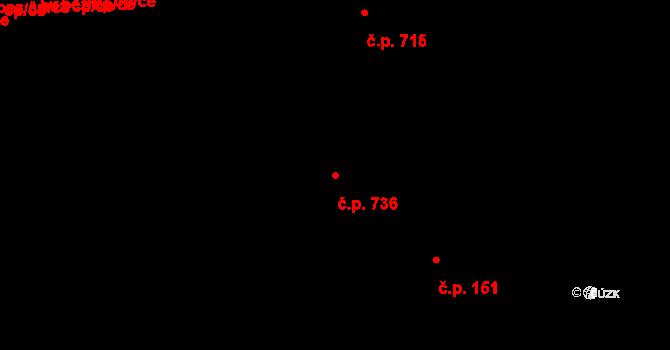 Holice 736, Olomouc na parcele st. 327/86 v KÚ Holice u Olomouce, Katastrální mapa