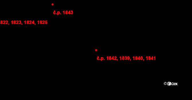 Sokolov 1839,1840,1841,1842 na parcele st. 2436/22 v KÚ Sokolov, Katastrální mapa