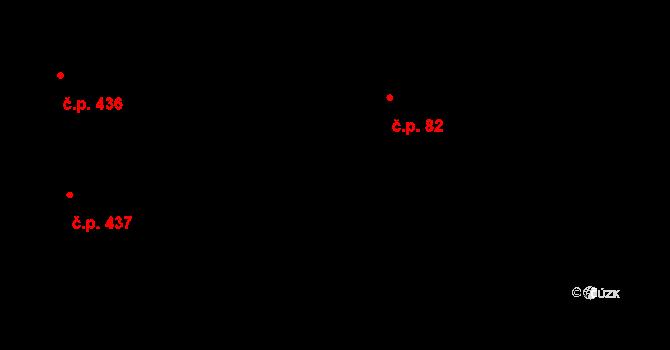 Vysočany 82, Praha na parcele st. 30/2 v KÚ Vysočany, Katastrální mapa