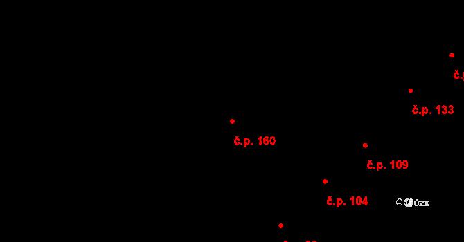 Sadová 160, Brno, Katastrální mapa