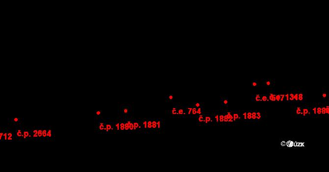 Aš 764 na parcele st. 4466 v KÚ Aš, Katastrální mapa