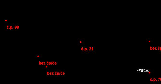 Stránka 21 na parcele st. 71 v KÚ Stránka u Mšena, Katastrální mapa