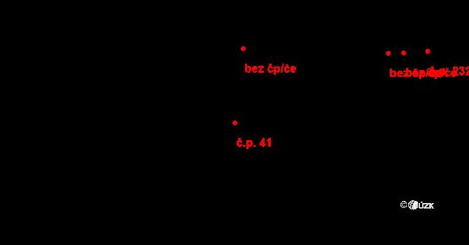 Bělidla 41, Olomouc na parcele st. 85 v KÚ Bělidla, Katastrální mapa
