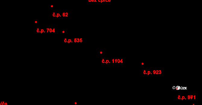 Liberec XIV-Ruprechtice 1104, Liberec na parcele st. 426/3 v KÚ Ruprechtice, Katastrální mapa