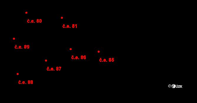 Prštné 85, Zlín na parcele st. 865 v KÚ Prštné, Katastrální mapa