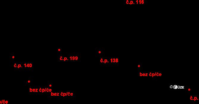 Vlčková 138 na parcele st. 283 v KÚ Vlčková, Katastrální mapa