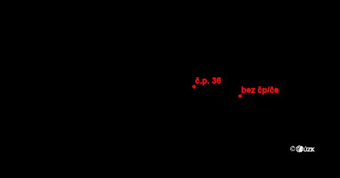 Mistrovice 36 na parcele st. 138 v KÚ Mistrovice nad Orlicí, Katastrální mapa