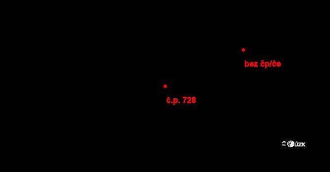 Horní Těrlicko 728, Těrlicko na parcele st. 3200 v KÚ Horní Těrlicko, Katastrální mapa