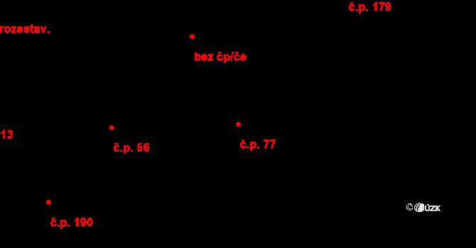 Plavsko 77 na parcele st. 109 v KÚ Plavsko, Katastrální mapa
