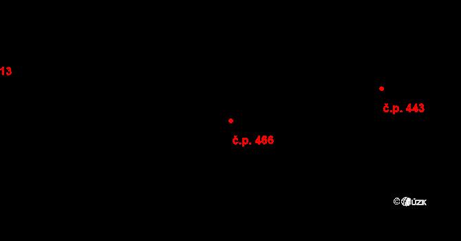 Mladcová 466, Zlín na parcele st. 826 v KÚ Mladcová, Katastrální mapa