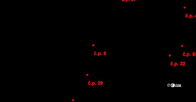 Václavy 8 na parcele st. 16/2 v KÚ Václavy, Katastrální mapa