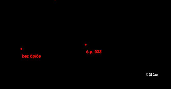 Stříbro 933 na parcele st. 1102 v KÚ Stříbro, Katastrální mapa