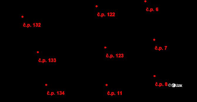 Josefov 123, Praha na parcele st. 89/1 v KÚ Josefov, Katastrální mapa