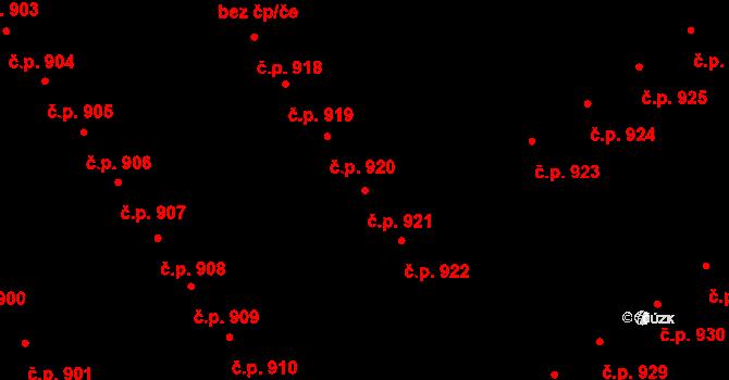 Studánka 921, Pardubice na parcele st. 852 v KÚ Studánka, Katastrální mapa