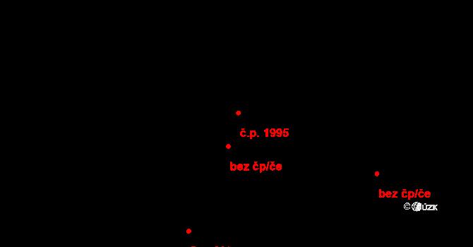 Bruntál 1995 na parcele st. 613/2 v KÚ Bruntál-město, Katastrální mapa