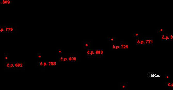 Žižkov 883, Praha na parcele st. 101 v KÚ Žižkov, Katastrální mapa