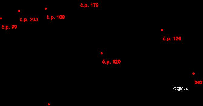 Prštné 120, Zlín na parcele st. 181 v KÚ Prštné, Katastrální mapa