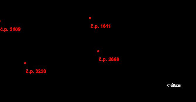 Česká Lípa 2666 na parcele st. 3941/2 v KÚ Česká Lípa, Katastrální mapa