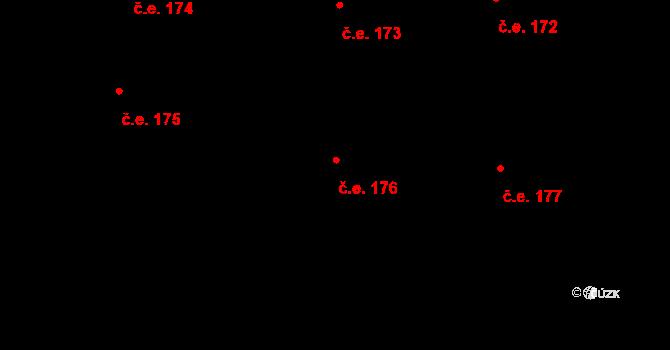 Zbraslav 176, Praha na parcele st. 3045 v KÚ Zbraslav, Katastrální mapa