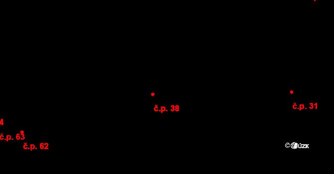 Ovesná Lhota 38 na parcele st. 47 v KÚ Ovesná Lhota, Katastrální mapa