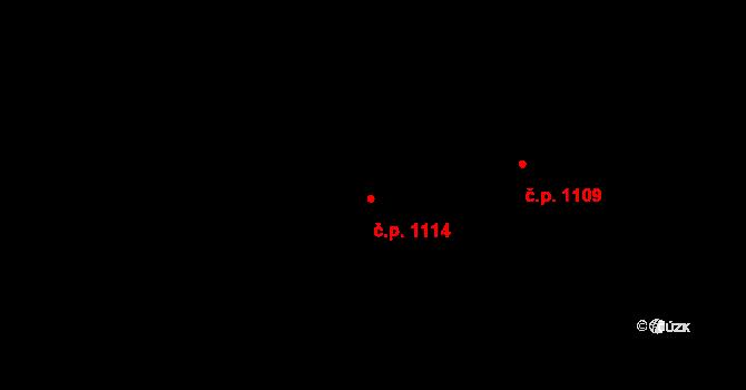 Stonava 1114 na parcele st. 1612/8 v KÚ Stonava, Katastrální mapa