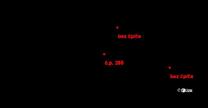 Žirovnice 285 na parcele st. 318/3 v KÚ Žirovnice, Katastrální mapa