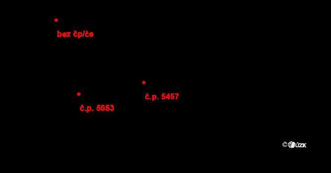 Jihlava 5457 na parcele st. 2860/10 v KÚ Jihlava, Katastrální mapa