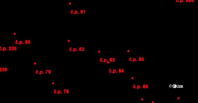 Hradec Králové 83 na parcele st. 112 v KÚ Hradec Králové, Katastrální mapa