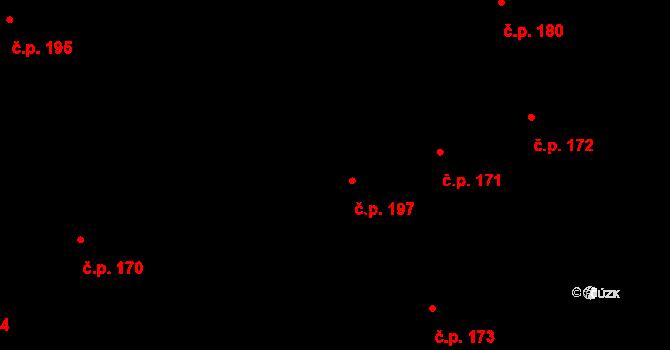 Nová Cerekev 197 na parcele st. 223 v KÚ Nová Cerekev, Katastrální mapa