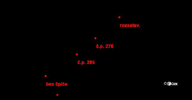 Luka nad Jihlavou 275 na parcele st. 306 v KÚ Luka nad Jihlavou, Katastrální mapa