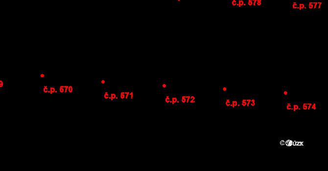 Malá Strana 572, Praha na parcele st. 876 v KÚ Malá Strana, Katastrální mapa