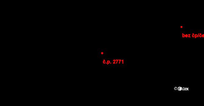 Kročehlavy 2771, Kladno na parcele st. 3897 v KÚ Kročehlavy, Katastrální mapa