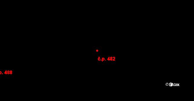 Staré Křečany 482 na parcele st. 753/1 v KÚ Staré Křečany, Katastrální mapa