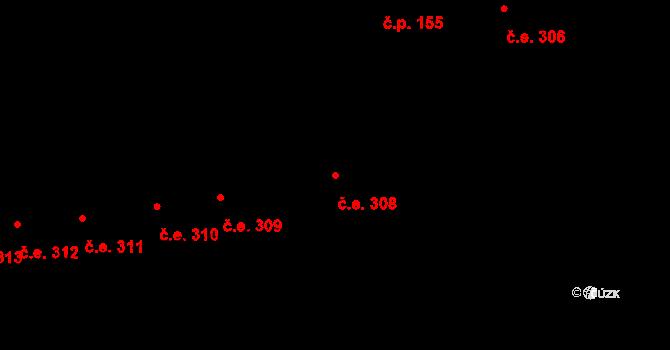 Lety 308 na parcele st. 1413 v KÚ Lety u Dobřichovic, Katastrální mapa
