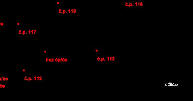Nová Ves u Nového Města na Moravě 113 na parcele st. 383 v KÚ Nová Ves u Nového Města na Moravě, Katastrální mapa
