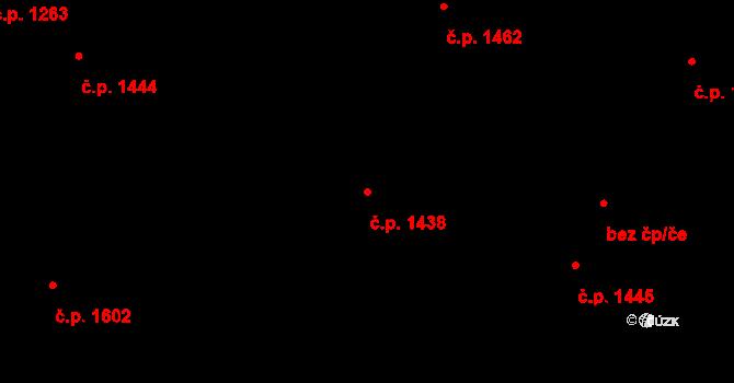 Úvaly 1438 na parcele st. 3268/22 v KÚ Úvaly u Prahy, Katastrální mapa