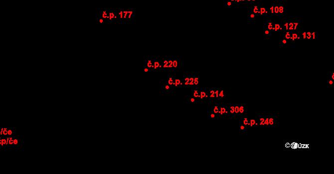 Mokrá Hora 225, Brno na parcele st. 537/29 v KÚ Mokrá Hora, Katastrální mapa