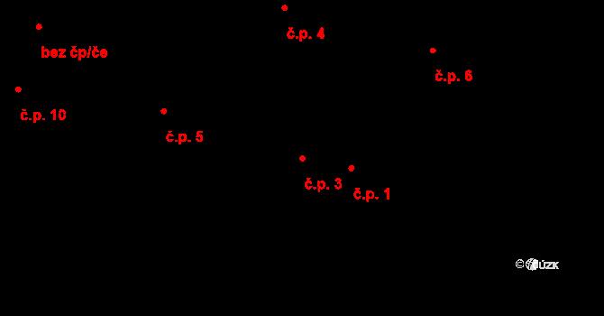 Horní Paseky 3, Aš na parcele st. 95/1 v KÚ Horní Paseky, Katastrální mapa