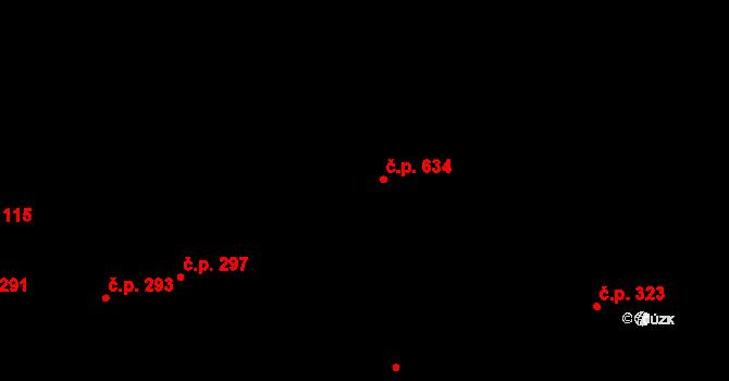 Mladá Vožice 634 na parcele st. 1083 v KÚ Mladá Vožice, Katastrální mapa