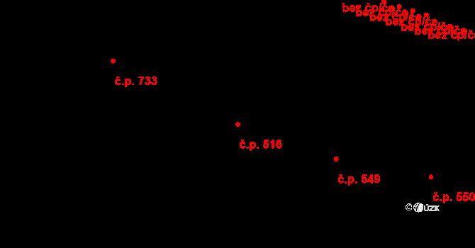 Hradec Králové 516 na parcele st. 994 v KÚ Hradec Králové, Katastrální mapa