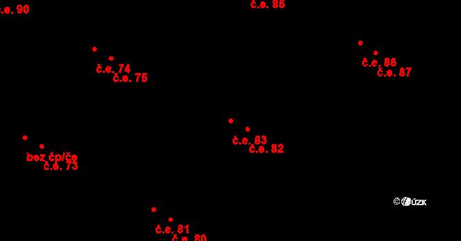 Malé Březno 83 na parcele st. 104/12 v KÚ Malé Březno, Katastrální mapa